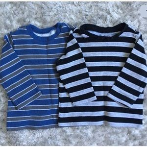 Boys First Impressions Striped Long Sleeve Shirt